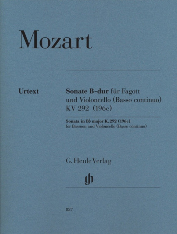 Mozart: Sonata in B-flat Major K 292 Bassoon/Piano