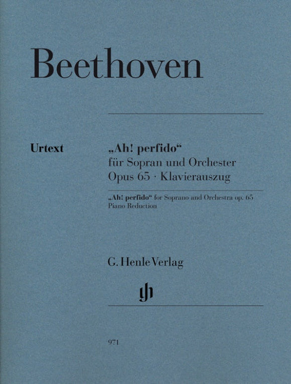 Beethoven: Ah Perfido Op 65 for Soprano Voice & Piano