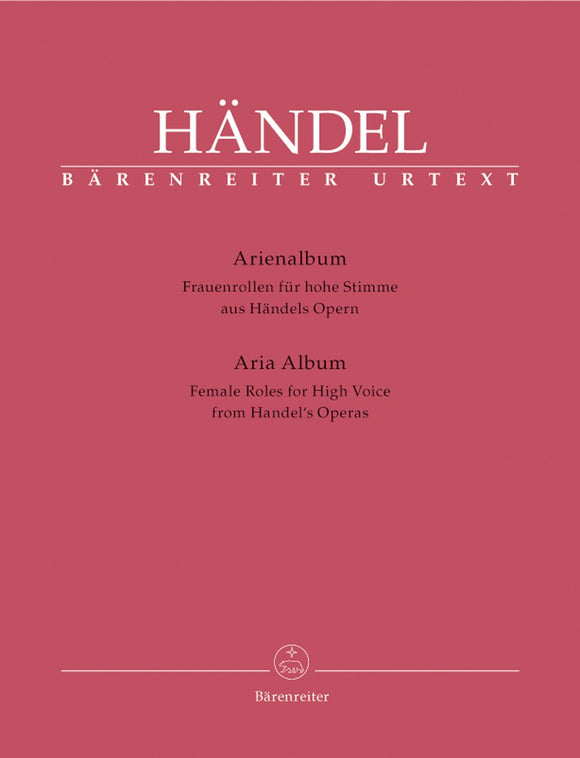 Handel: Aria Album from Handel's Operas for High Voice & Piano