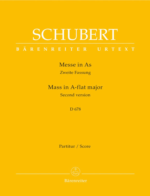 Schubert: Mass in A Flat D 678 - Full Score