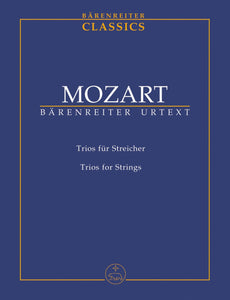Mozart: Trios for Strings - Study Score
