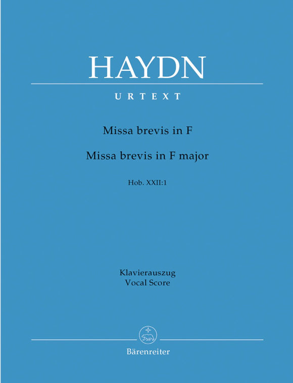 Haydn: Missa Brevis in F - Vocal Score