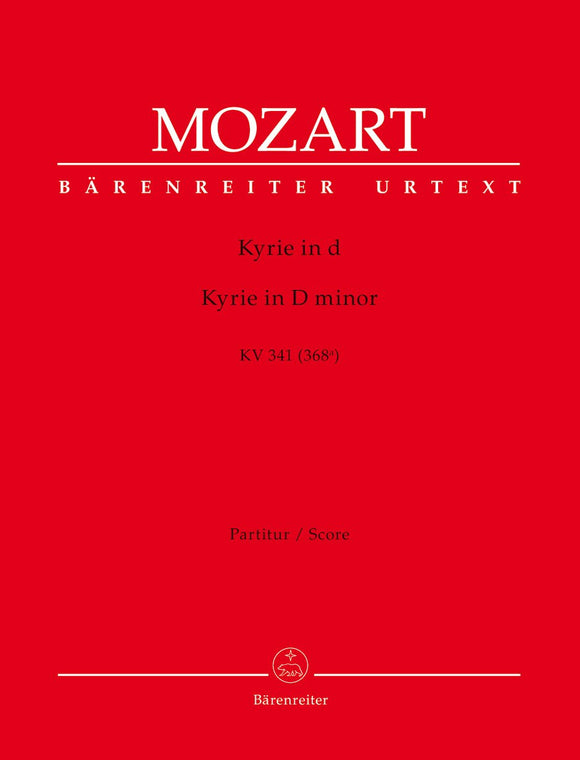 Mozart: Kyrie in D K341 Full Score