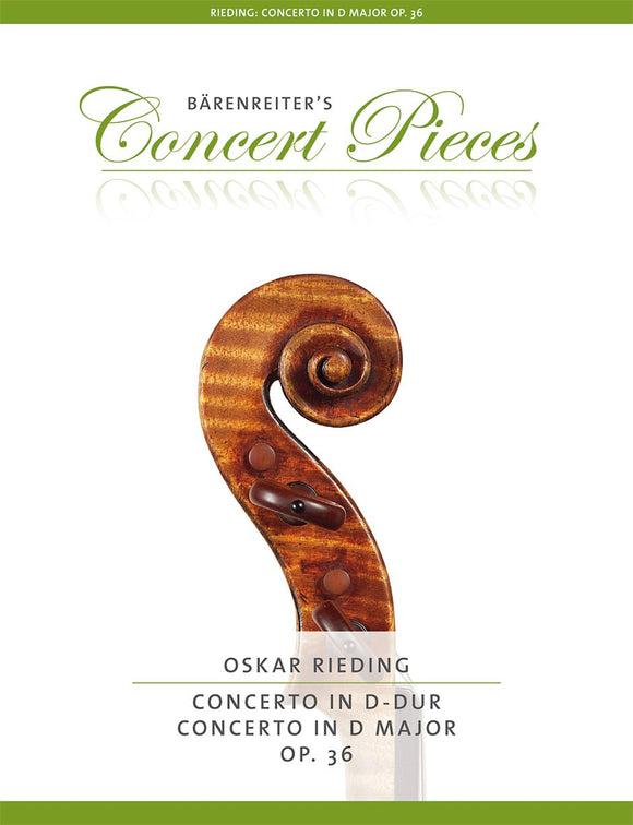 Rieding : Violin Concerto in D Major Op 36 for Violin & Piano