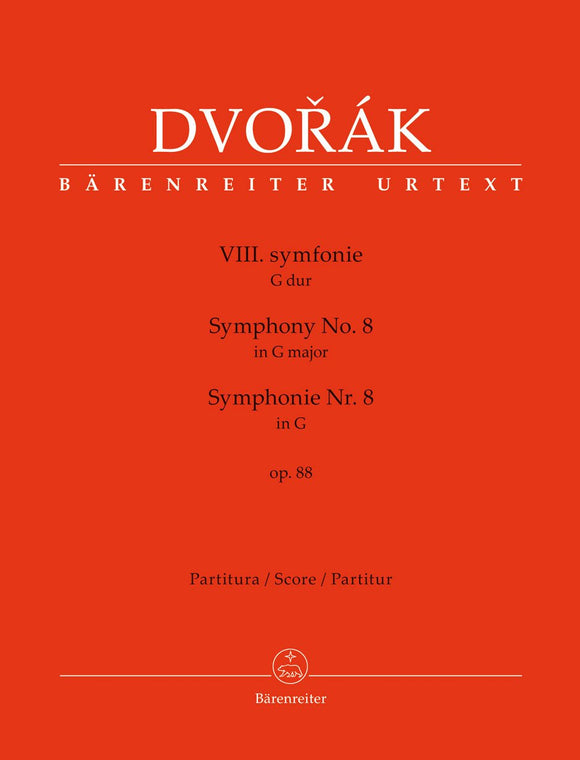 Dvořák: Symphony No 8 in G Major Op 88 - Full Score