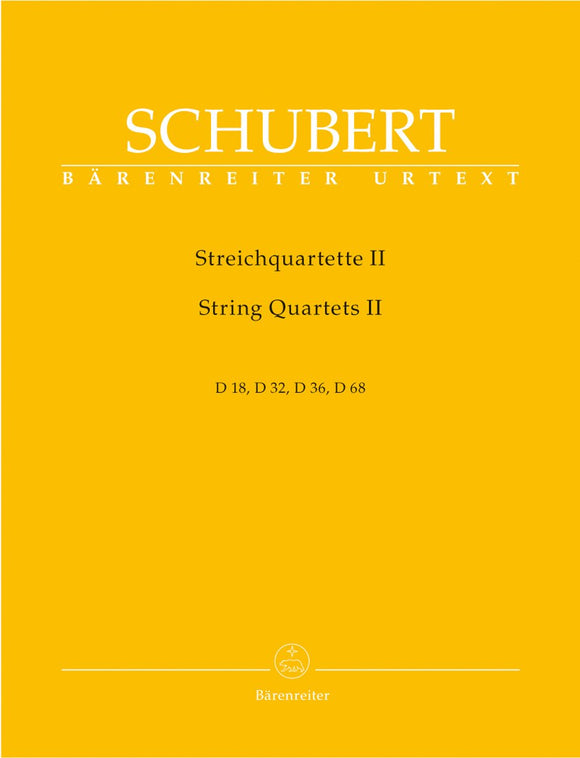 Schubert: Complete String Quartets - Book 2 (Set of Parts)