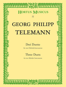 Telemann: Three Duets for 2 Melodic Instruments