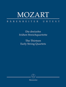 Mozart: Thirteen Early String Quartets - Study Score