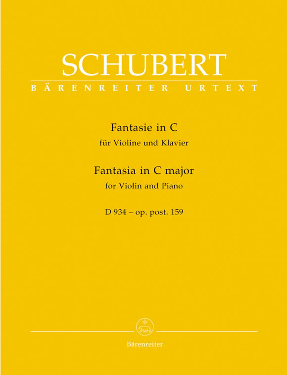 Schubert: Fantasia in C D934 for Violin & Piano
