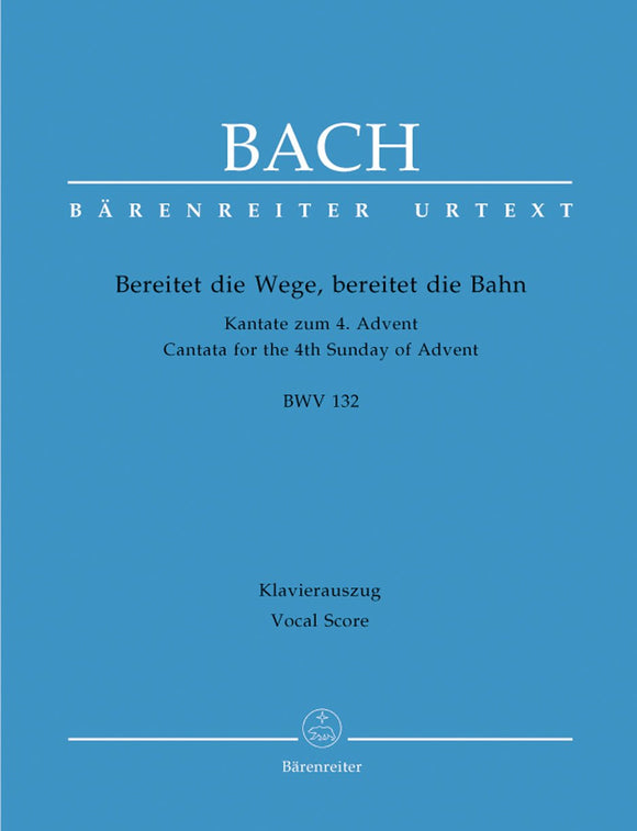 Bach: Cantata 132 - Vocal Score