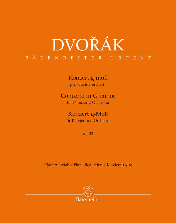 Dvořák: Piano Concerto in G Op 33 - Piano Reduction