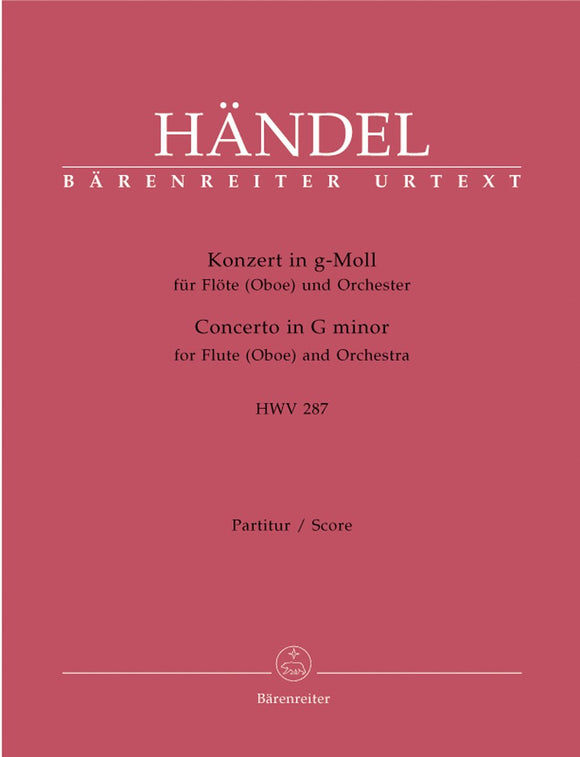 Handel: Flute Concerto in G Minor HWV287 - Full Score