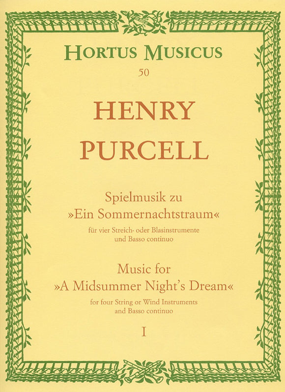 Purcell: Midsummer Nights Dream Pt 1 Full Score