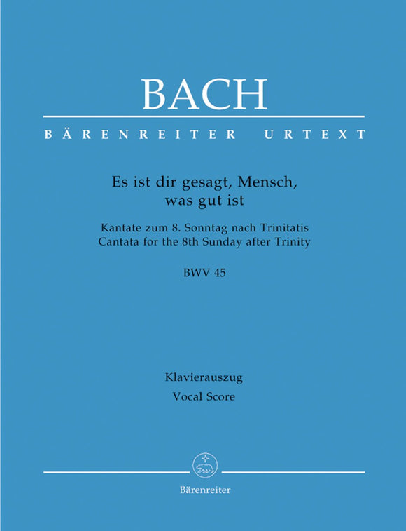 Bach: Cantata 45 - Vocal Score