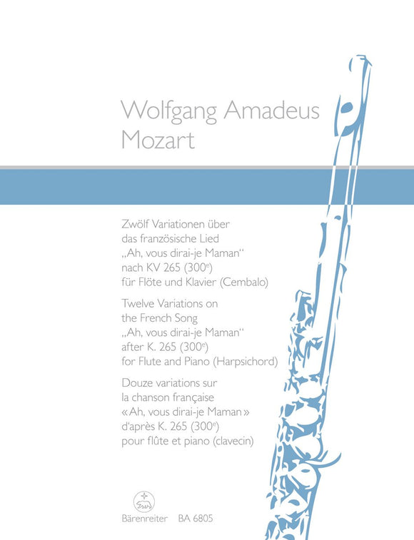 Mozart: Twelve Variations On Twinkle Twinkle for Flute & Piano,  arr. Kirchner