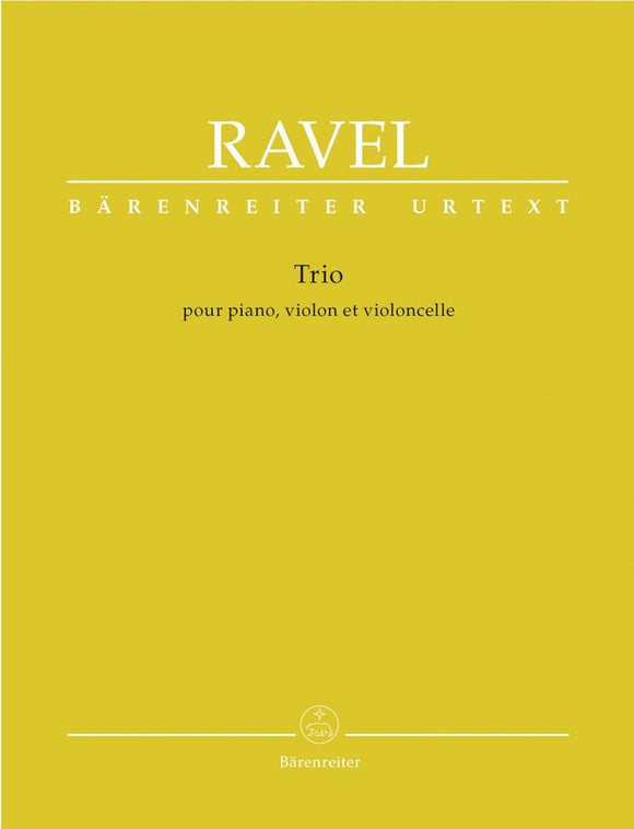 Ravel : Piano Trio for Piano Violin & Cello - Score & Parts