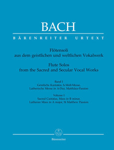 Bach: Flute Solos - Book 1 Sacred Vocal Works