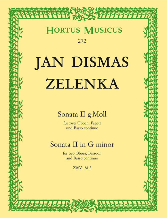 Zelenka: Trio Sonata No 2 in G for 2 Oboes & Bassoon