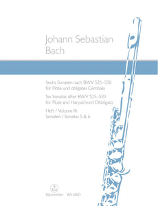 Bach: Six Sonatas for Flute & Keyboard - Book 3 (BWV529, 30)
