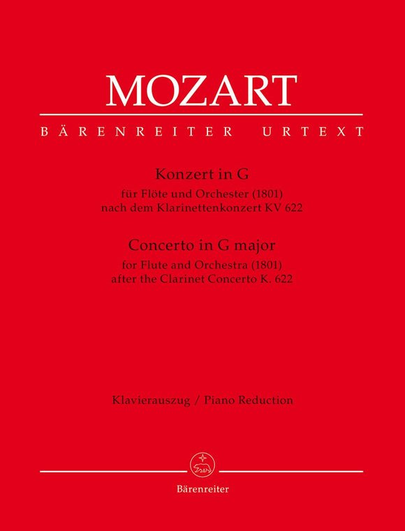 Mozart: Flute Concerto in G - Arranged from Clarinet Concerto K622 - for  Flute & Piano