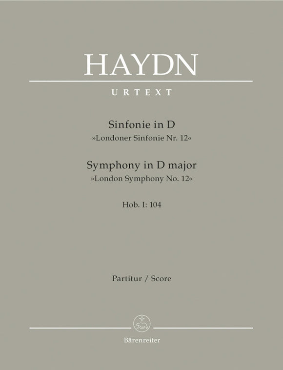 Haydn: Symphony No 104 in D Full Score