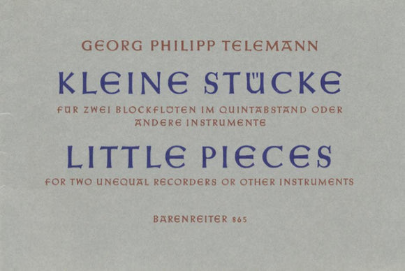 Telemann: Eleven Little Pieces for 2 Recorders