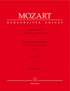 Mozart: Piano Concerto in F, K413 - Full Score