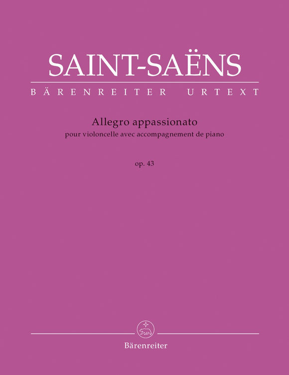 Saint-Saens : Allegro Appassionato Op 43 for Cello & Piano