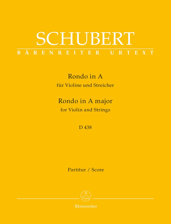 Schubert: Rondo for Violin & Strings in A D 438 - Full Score