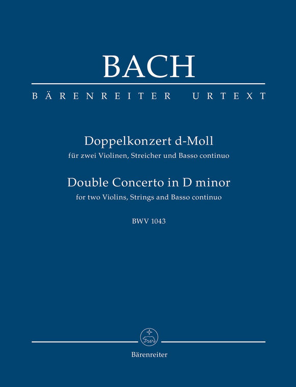 Bach: Double Concerto in D for 2 Violins - Study Score