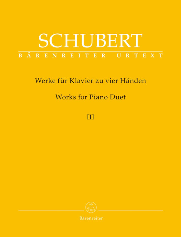Schubert: Works for Piano Duet - Volume 3 (1 Piano, 4 Hands)