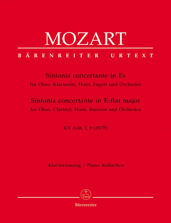 Mozart: Sinfonia Concertante E Flat - Piano Reduction