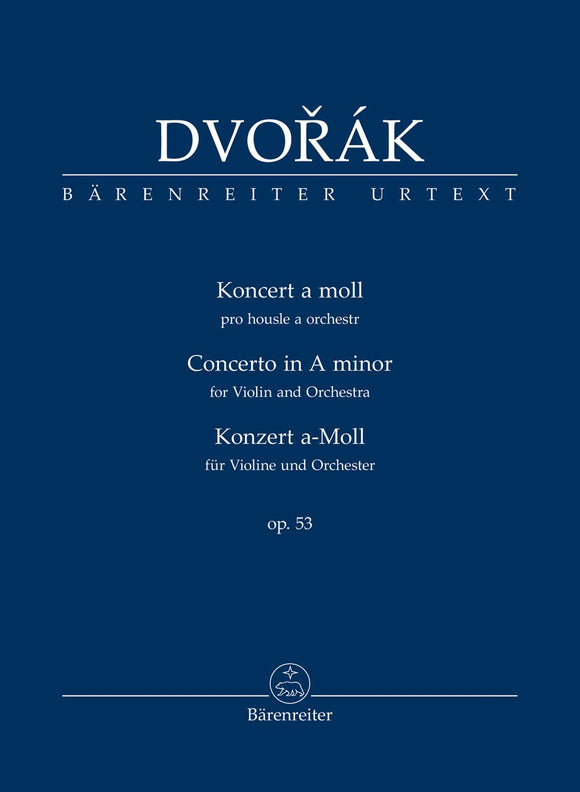 Dvořák: Violin Concerto in A Minor Op 53 - Study Score