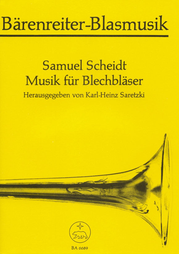 Scheidt: Music for Brass Ensemble (Playing Score)