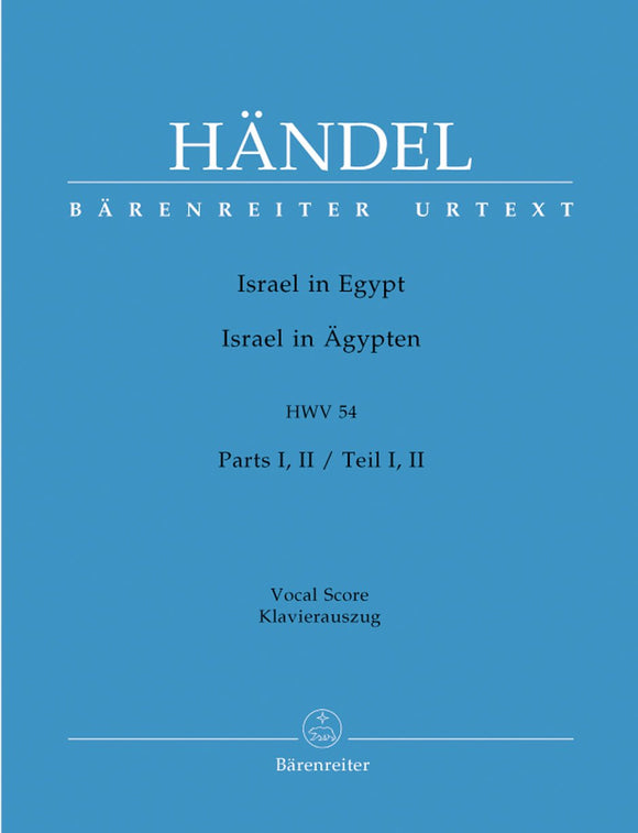 Handel: Israel in Egypt HWV54 Hardback - Vocal Score