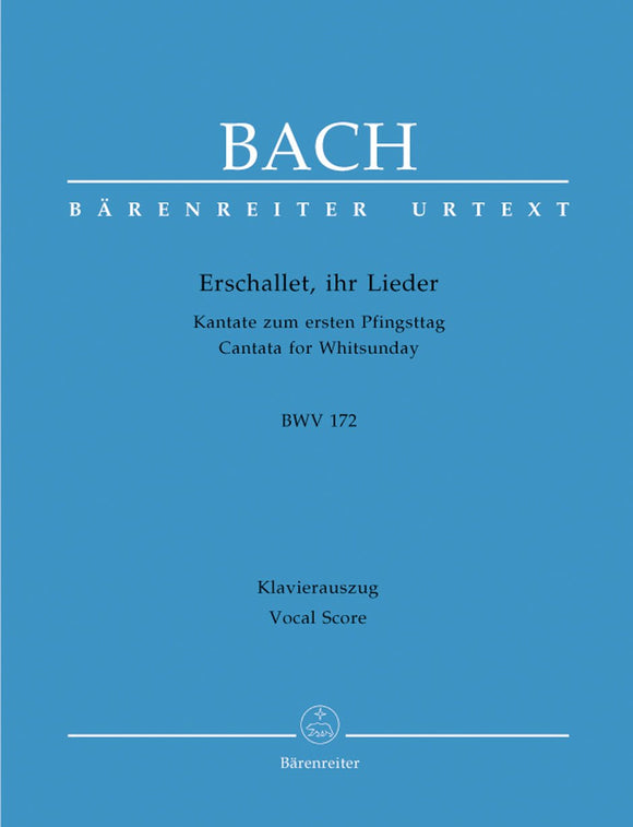 Bach: Cantata 172 - Vocal Score