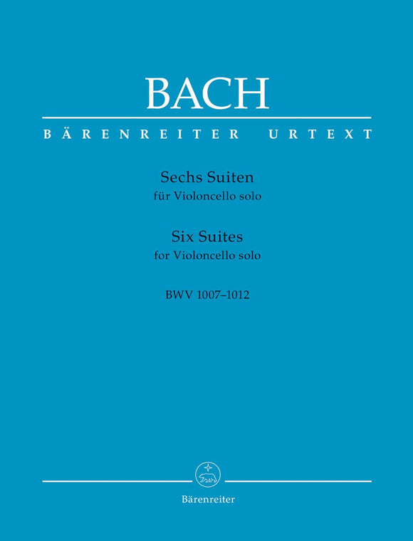 Bach: Six Suites BWV 1007-1012 for Solo Cello (Urtext Edition)