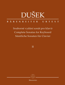 Dusek : Complete Sonatas for Keyboard - Vol 2