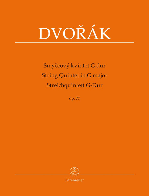 Dvořák: String Quintet in G Major Op 77 (Set of Parts)