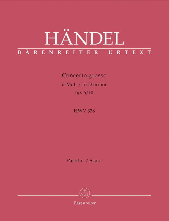 Handel: Concerto Grosso D Minor Op 6, 10 - Full Score