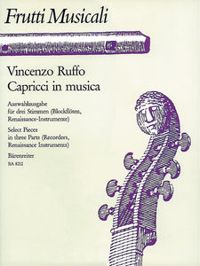 Ruffo : Musical Fruits: Select Pieces in 3 Parts (for Descant Recorder, Treble Recorder, T, Tenor recorder in C (D), B)
