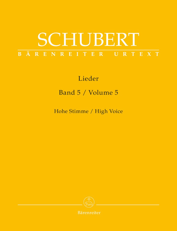 Schubert: Lieder Volume 5 for High Voice