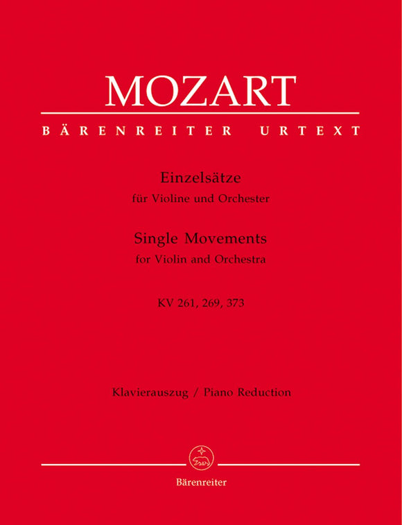 Mozart: Adagio K261 Rondos K269 K373 for Violin & Piano
