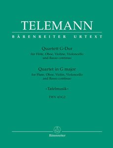 Telemann: Quartet for Flute, Oboe, Violin, Violoncello & Basso continuo in G major TWV 43:G2