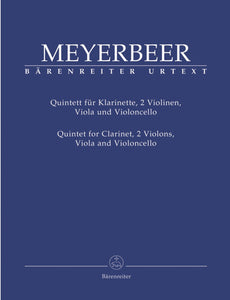 Meyerbeer: Quintet for Clarinet & String Quartet Score & Parts