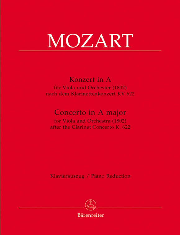 Mozart: Concerto in A for Viola & Piano