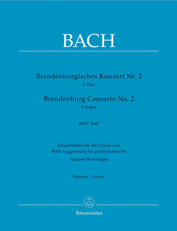 Bach: Brandenburg Concerto No 2 in F - Full Score