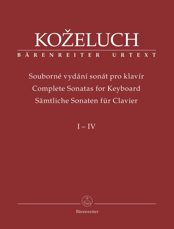 Kozeluch : Complete Sonatas for Keyboard - 4 Volume Set