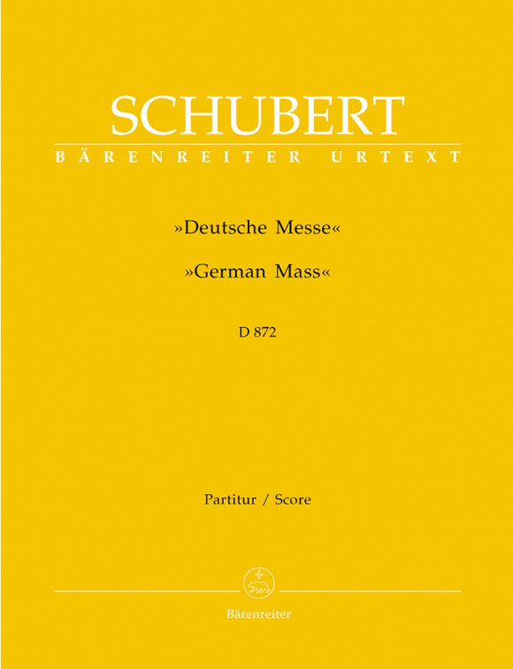 Schubert: German Mass D872 - Full Score
