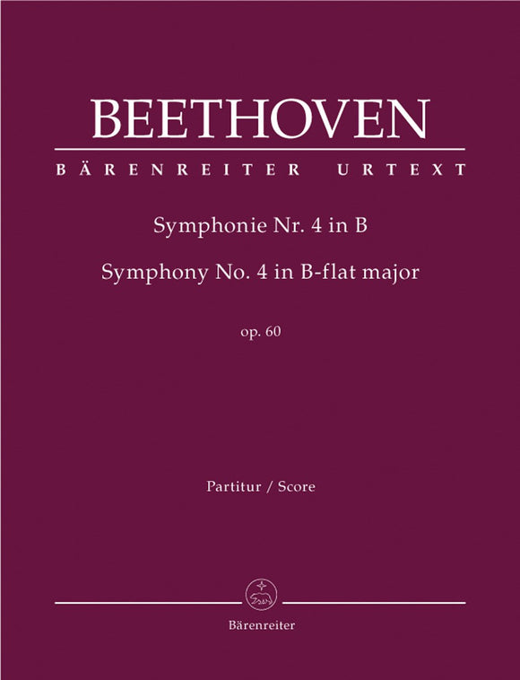 Beethoven: Symphony No 4 in B Flat Full Score